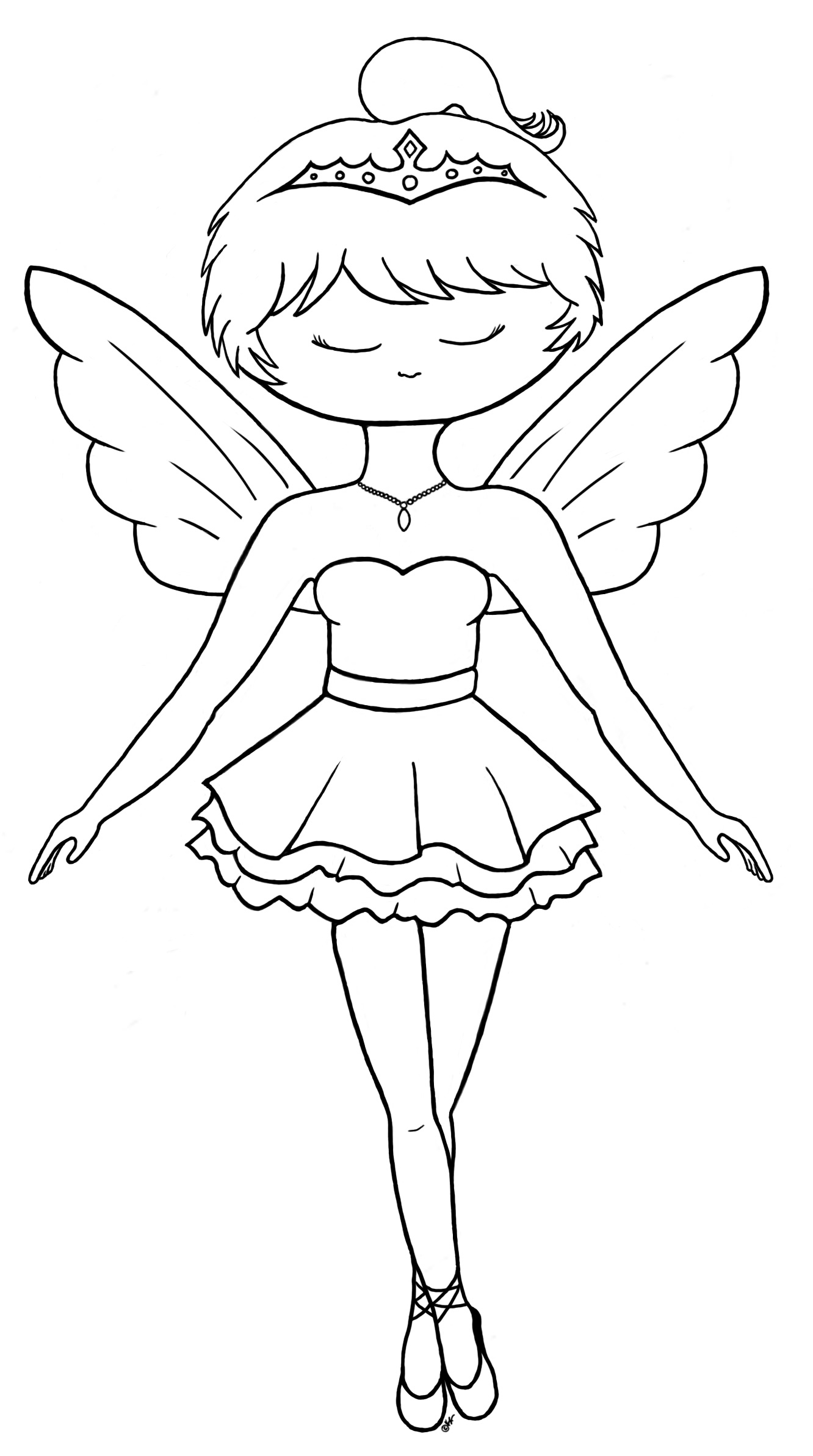 fairy princess ballerina coloring page