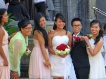 Copenhagen bride and her proud family.