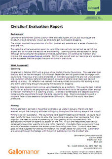 CivicSurf Evaluation Report