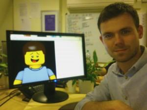 Antony and his Lego twin start work