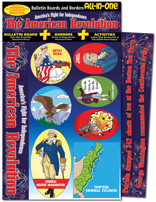 the american revolution america s fight for independence bulletin boards with borders