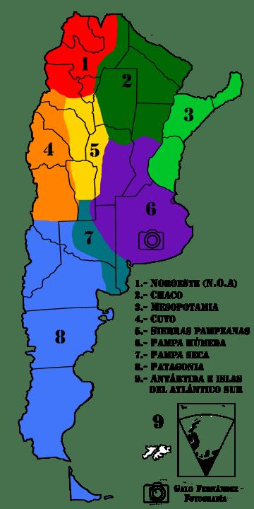 Las Regiones Geográficas Argentinas
