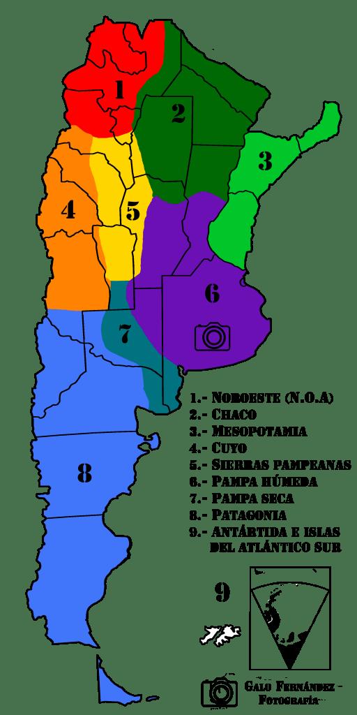 Regiones Geográficas Naturales de la Argentinas