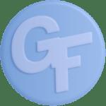 GF 3D Logo • Light Blue