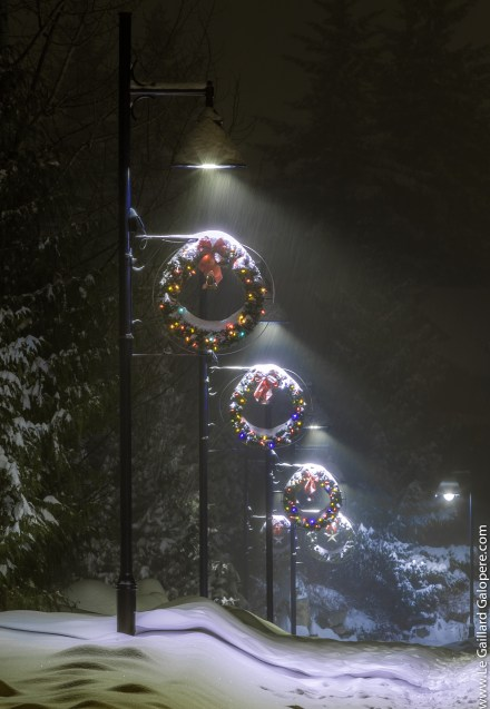 Whistler street in Christmas time