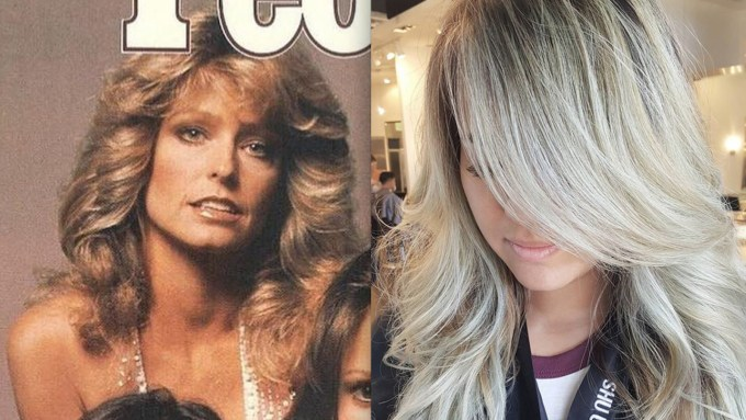 "farrah fawcett hair is coming back as ""chandelier layers"