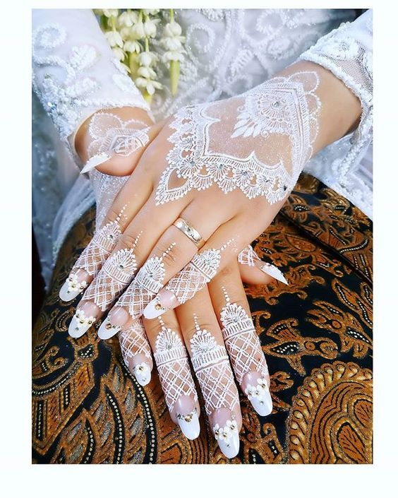 Henna Simple Terbaru : henna, simple, terbaru, Latest, White, Henna, Designs, Tattoo, Trends, Collection, 2020-2021