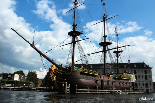 A replica of Amsterdam, VOC ship that sailed to Batavia (now Jakarta) in 1749