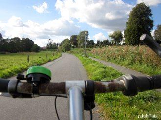 Very friendly bike path around the lake