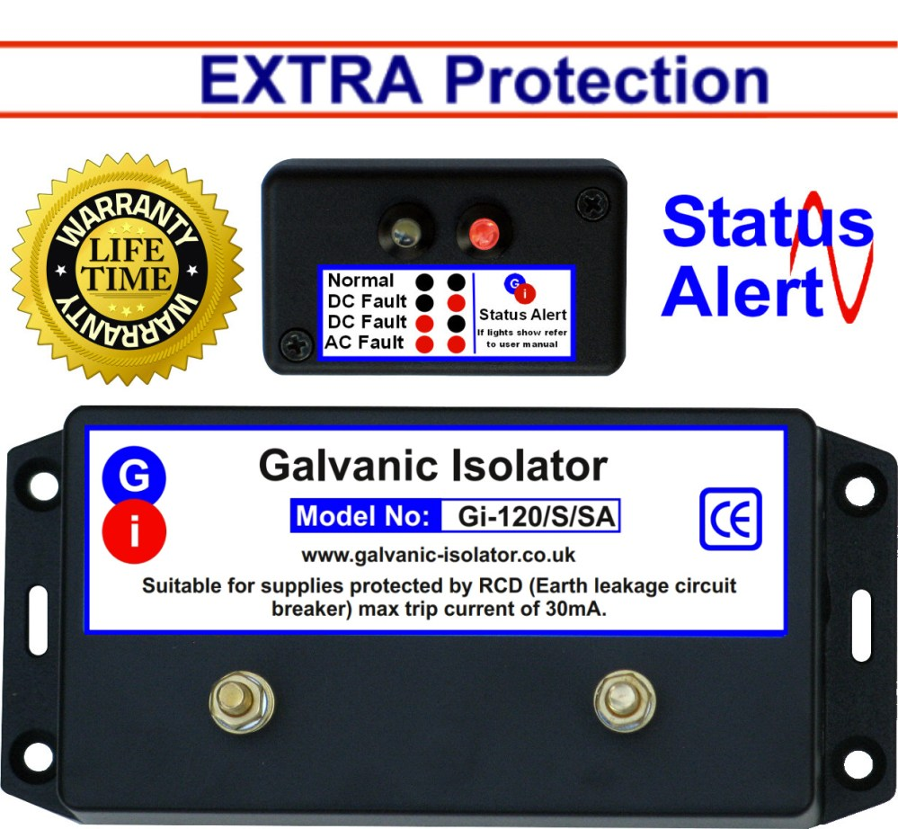 medium resolution of galvanic isolator wire in extra protection status alert