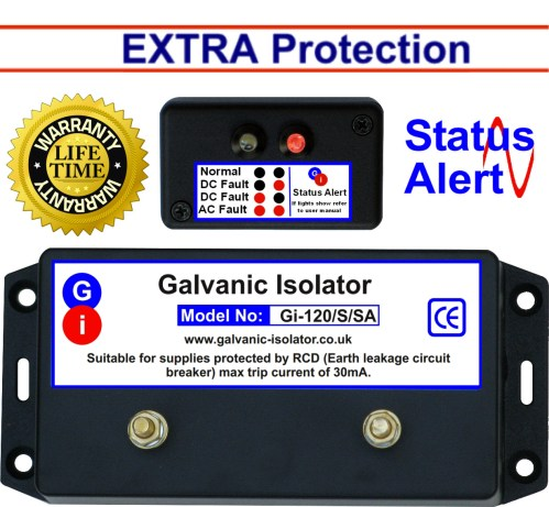 small resolution of galvanic isolator wire in extra protection status alert