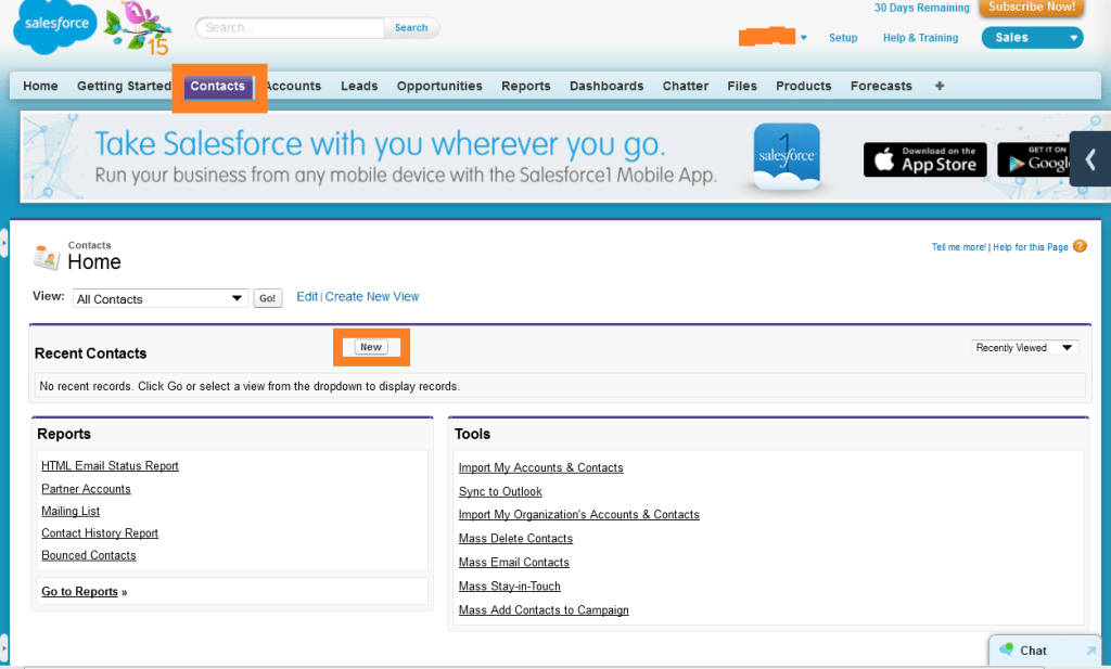 Salesforce Add Contacts