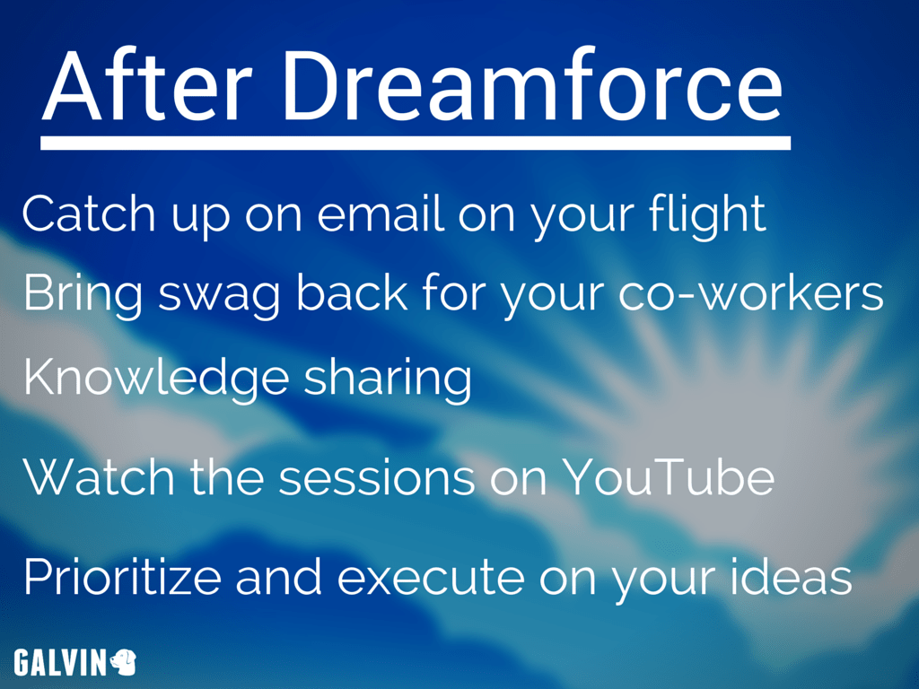 After Dreamforce