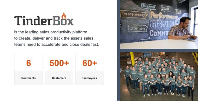 Tinderbox Sales Stack