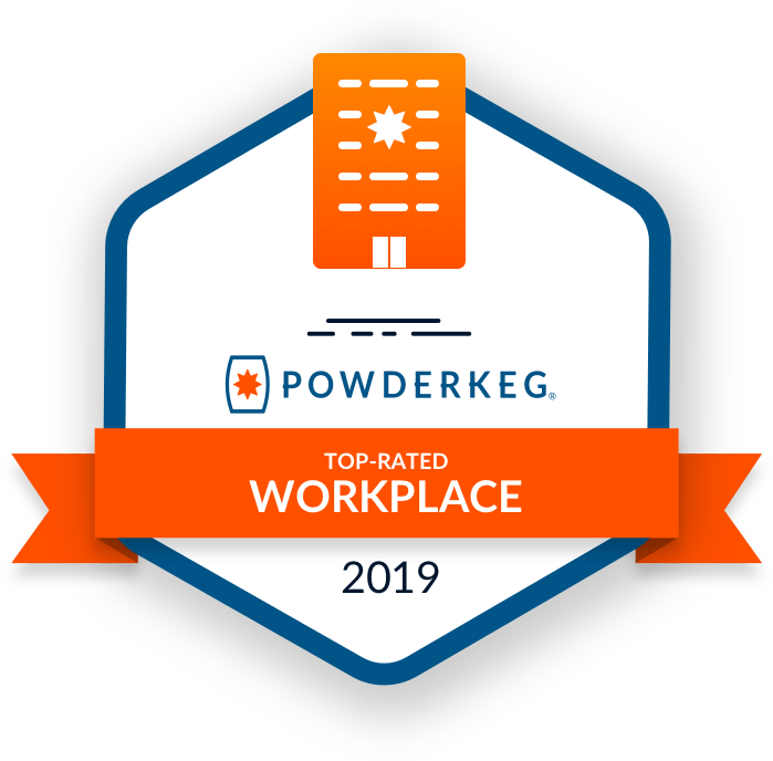 Powderkeg Award - Top Rated Workplace