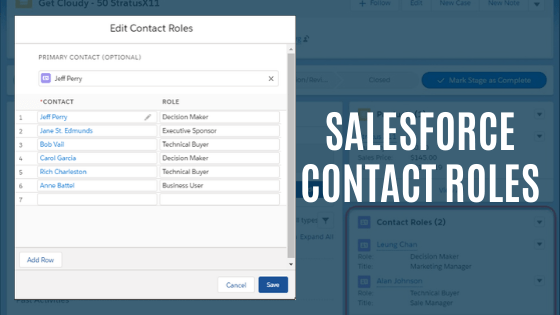 Salesforce Contact Roles