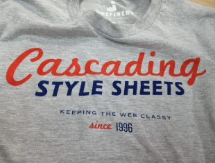 Camiseta CSS, Tshirt CSS Cascade style sheet