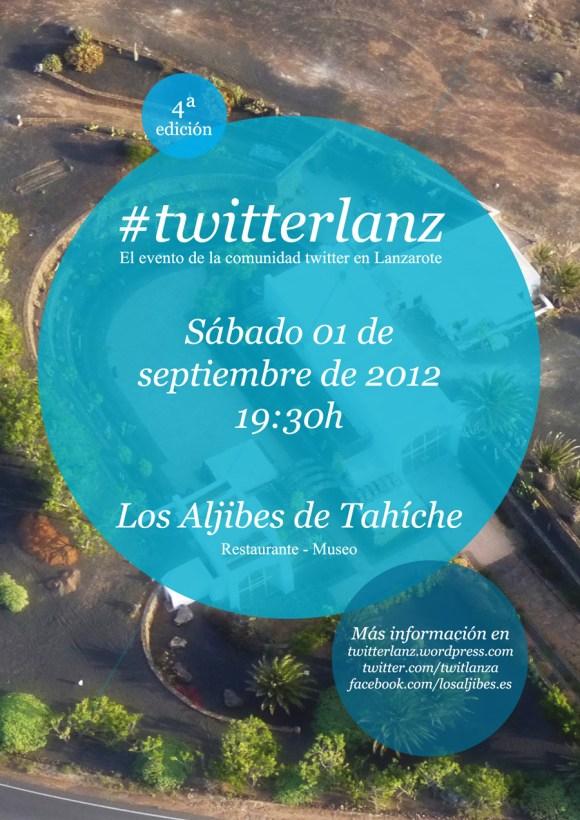 Cartel cuarta edición #twitterlanz