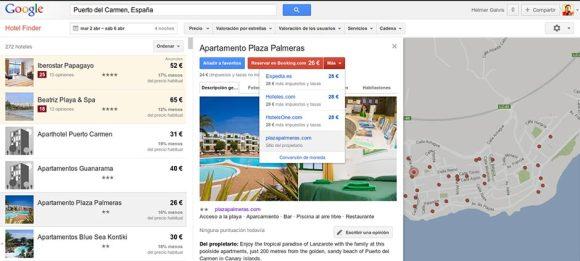 Buscador Hotel Google Lanzarote