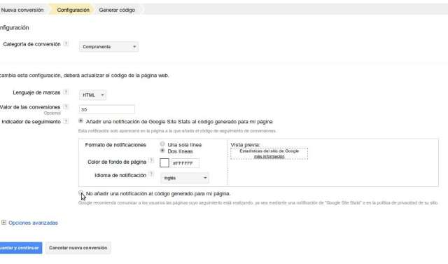Generar conversion Google Adwords