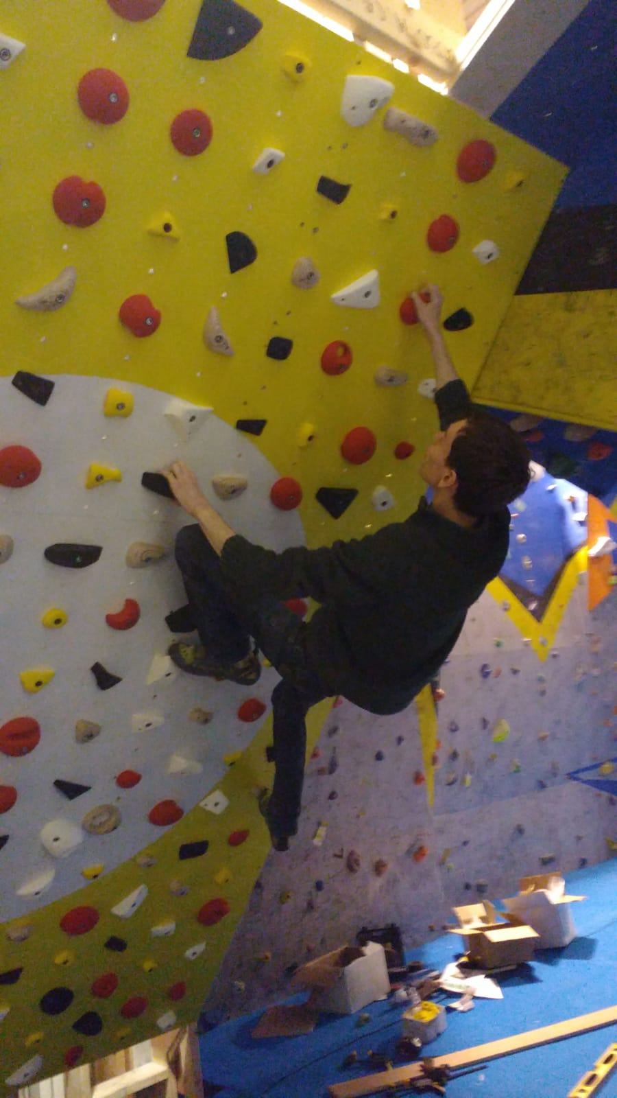 Moonboard climbing