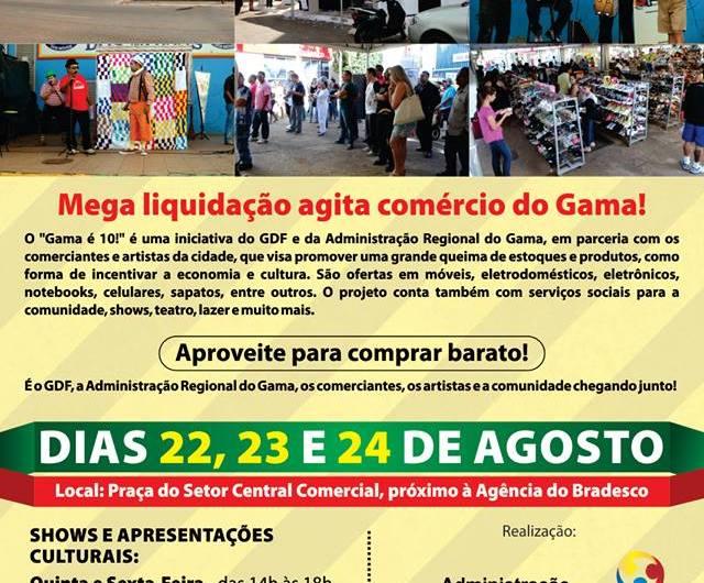 Mega liquidação agita comércio do Gama