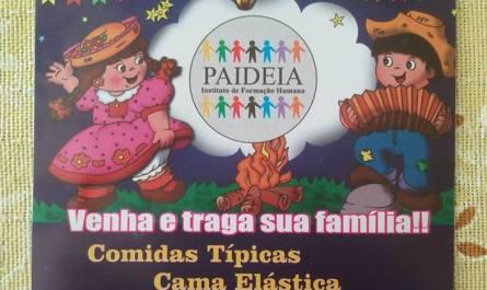 1º Arraiá do Paideia, neste sábado dia (10) a partir das 18h!!!
