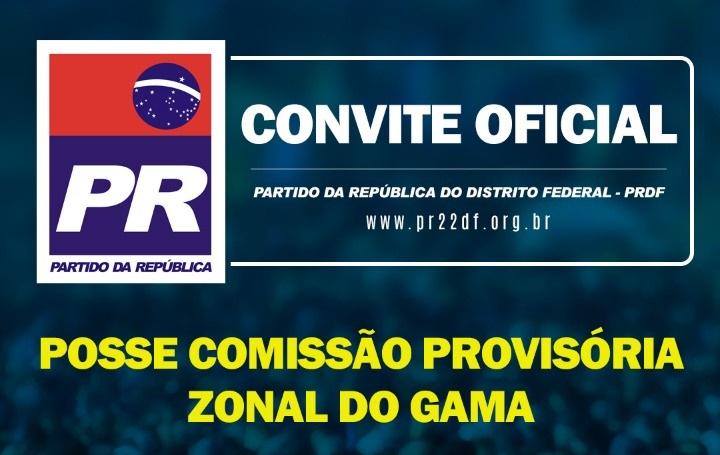 Posse da comissão provisória do Partido da República – PR (Zonal Gama)