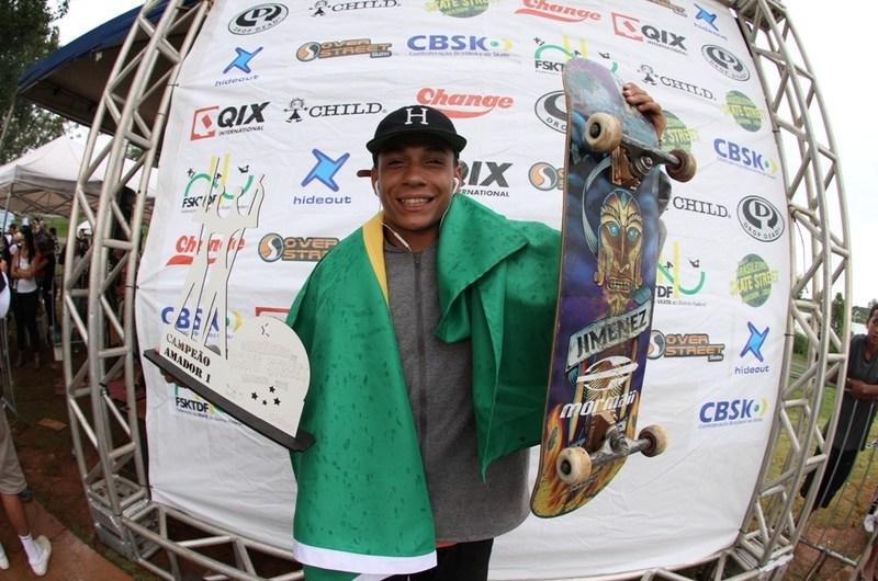 """João Lucas """"Xuxu"""" é o novo Campeão Brasileiro Amador de Street Skate"""