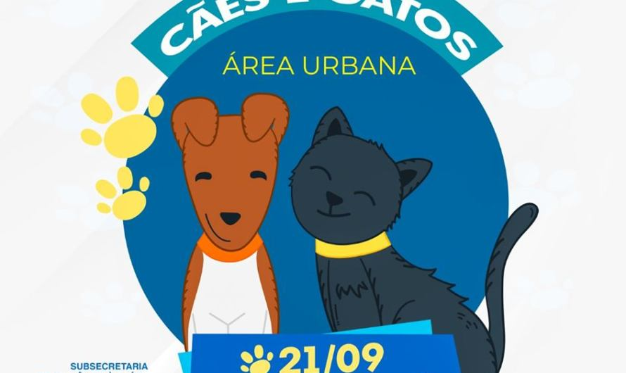 Cães e gatos da área urbana do Gama deverão ser vacinados contra raiva neste sábado (21)