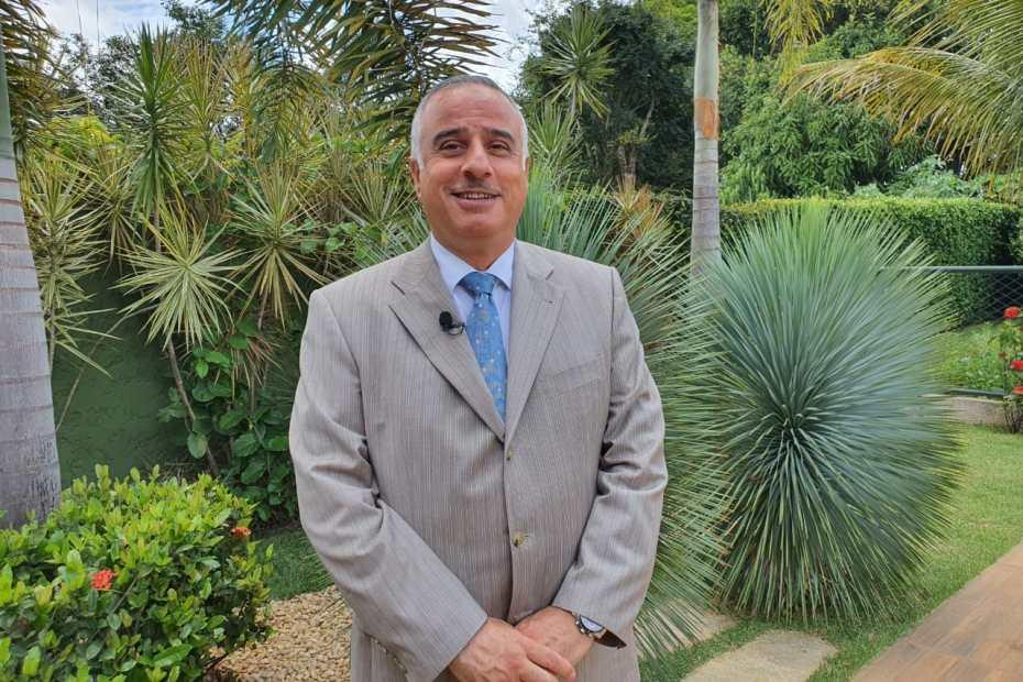 Embaixador Qais Shqair, chefe da Missão Permanente da Liga dos Estados Árabes no Brasil