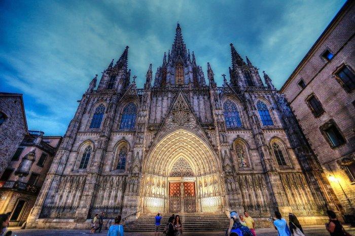 Catedral de Barcelona, en el barrio Gótico de Barcelona