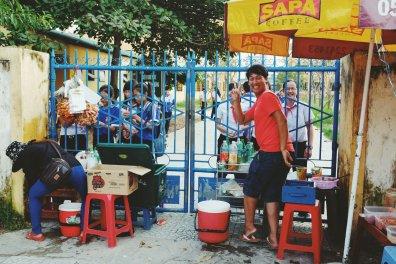 Vietnamesische Version eines Schulkiosks