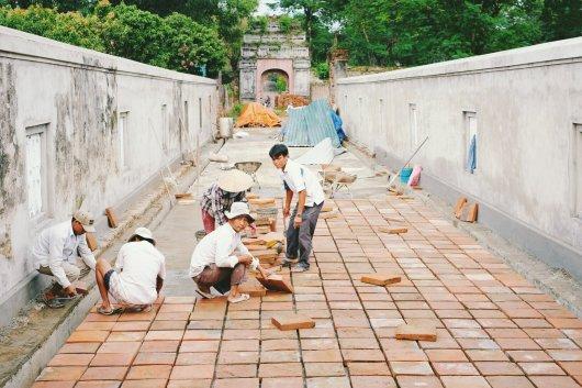 Restaurierung im Gange