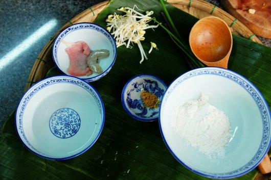 Zutaten für den Reispfannkuchen