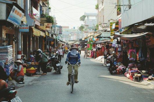 Kleiner Ort mit Markt
