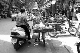 Handel auf der Straße