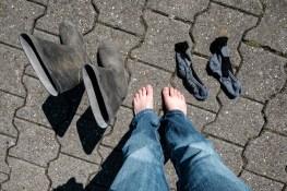 Socken und Stiefel trocknen