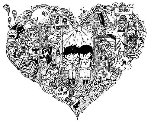 Gambar Doodle Nama Chika