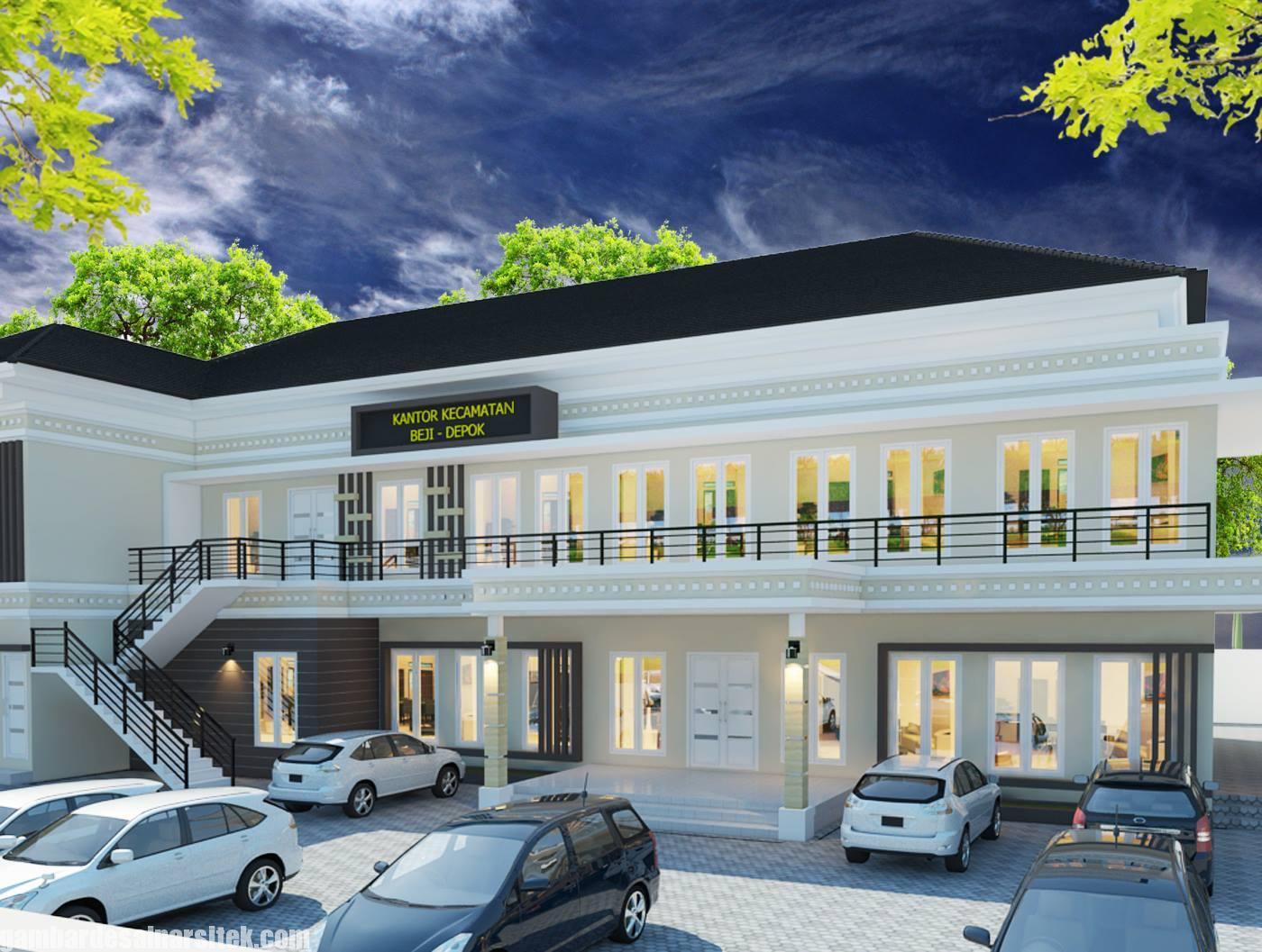 Desain Gedung Kantor Minimalis 9