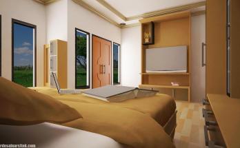 Desain Interior Kamar Utama Minimalis 1
