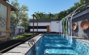 Desain Kolam Renang Rumah inimalis 4
