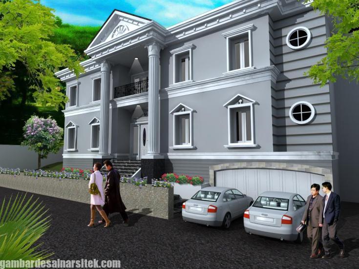 Desain Rumah Mediterania Mewah 2 Lantai (11)