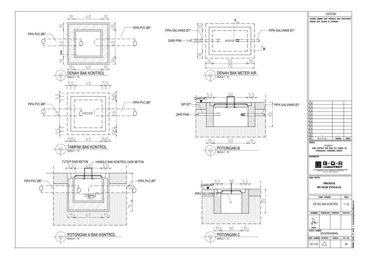 Jasa Desain Rumah Contoh Paket Gambar Kerja 30 DETAIL BAK KONTROL