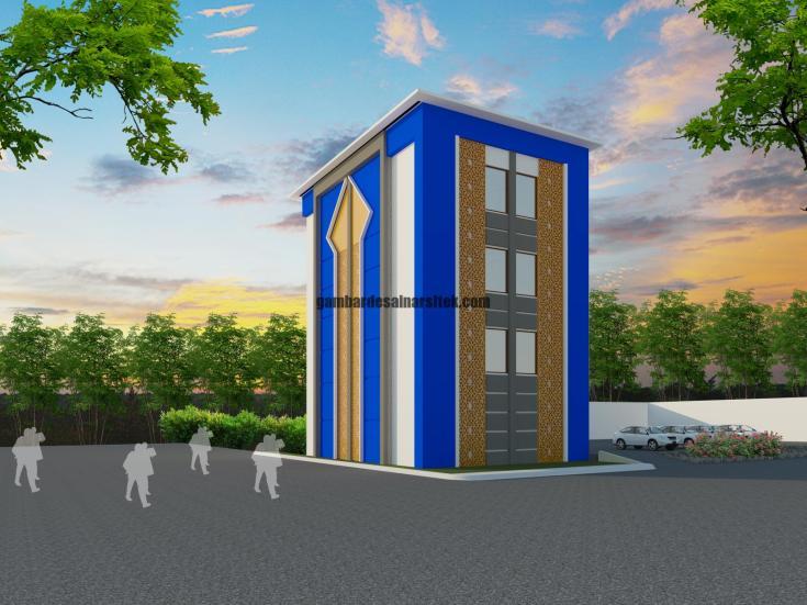 Contoh Desain 3D dan RAB Sekolah 5 Lantai dan Masjid 1