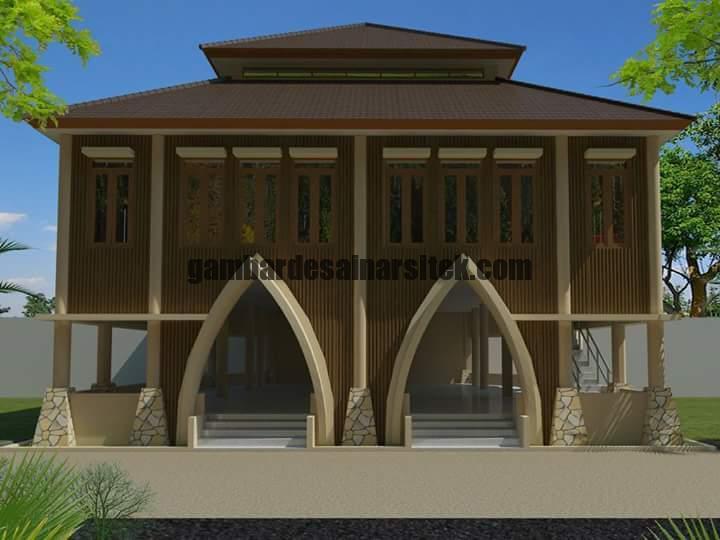 Desain Masjid Minimalis Warna Cat Coklat 2