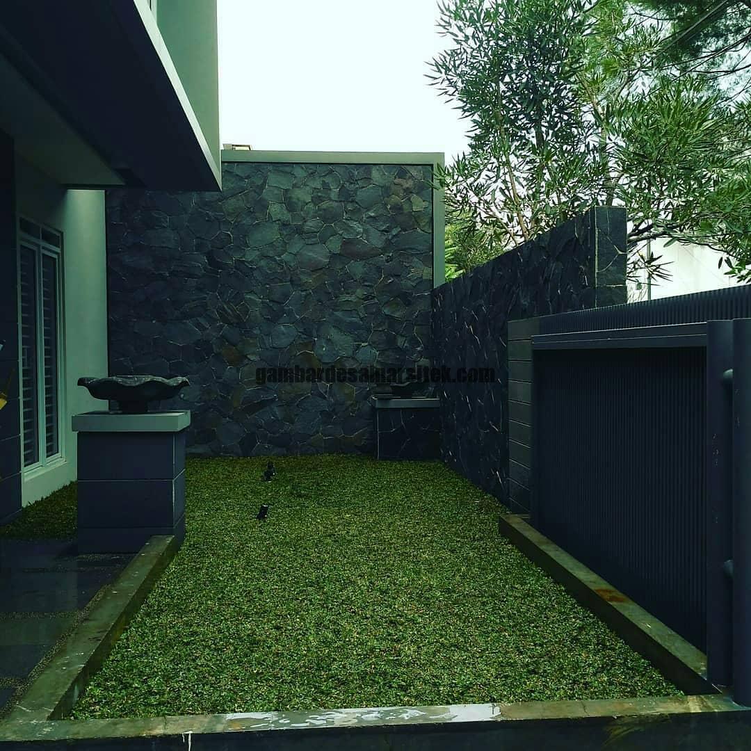 Jasa Taman Minimalis Pemasangan Rumput Gajah Mini di Bandung 1