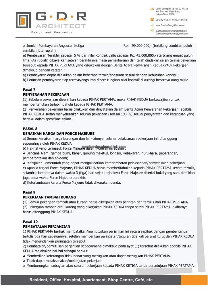 Kontraktor Rumah Jakarta Tipe Minimalis 2 Lantai 10