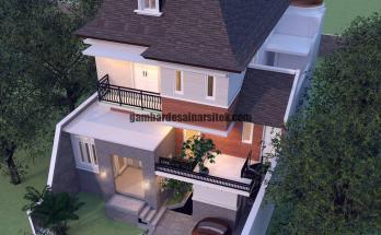 Rumah Mewah Mansard Eropa Klasik dengan Jendela di Atap 3