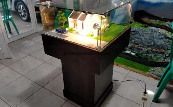 Maket Rumah Minimalis Type Skala 1 40 Model Kopel 2 1